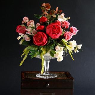 sugar flowers arrangement