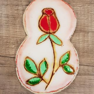 Vitrage rose cookie
