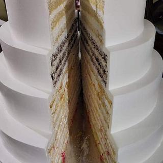 Super sharp edges in cream - Cake by Michelle's Sweet Temptation