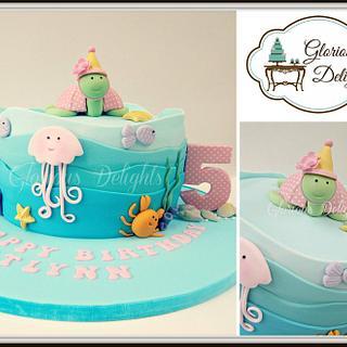 Underwater world birthday Cake