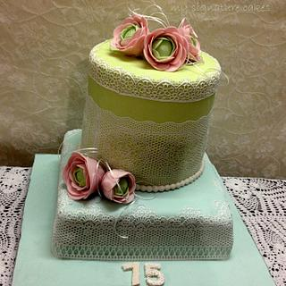 75th Birthday cake - Cake by MySignatureCakes