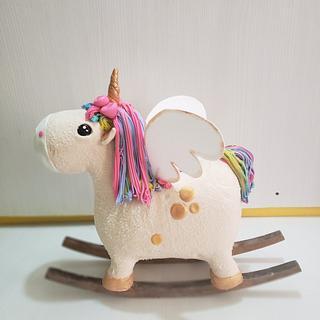 Torta unicornio 3d tallada  - Cake by Paola
