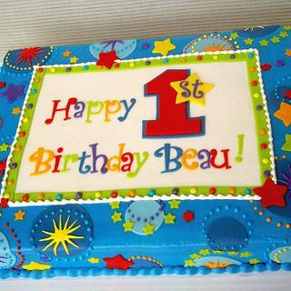 1st birthday Star - Cake by Corrie