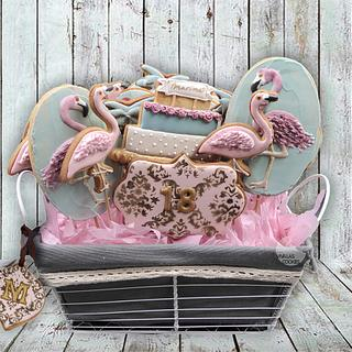 FLAMINGO COOKIE CENTERPIECE
