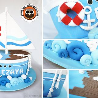 Sailing Boat cake - Cake by Sweet Owl Cake and Pastry