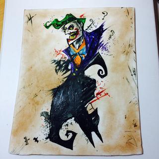Batman and joker painting