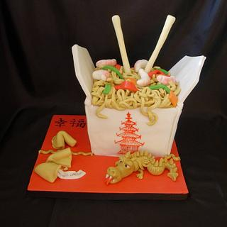 Chinese Takeaway - Cake by Bonnie151