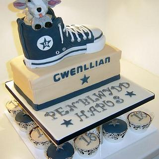 Girls 18th Birthday with Converse Trainer and Pygmey Goat theme!