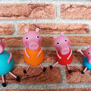 Peppa Pig & Family - Cake by Coppice Cakes