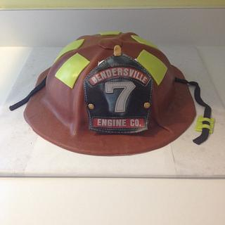 Fire Helmet - Cake by Cosden's Cake Creations