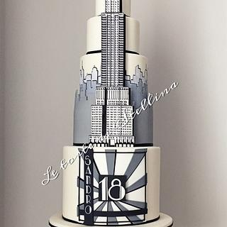 Chrysler building cake