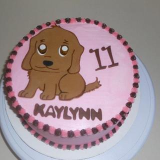 Golden Retriever Puppy Cake - Cake by YoureBakingMeCrazy