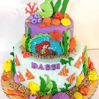 Little Mermaid Cake & Cake Pops - Cake by Sweet Creations