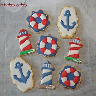 Nautical themed cookies