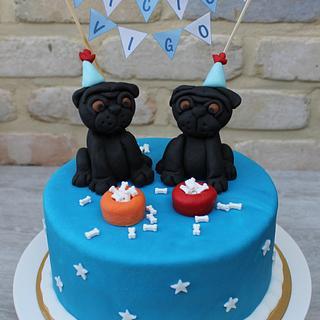 Pugs cake - Cake by Anse De Gijnst