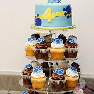 Blues Clues Cupcake Tower - Cake by Kimberly Cerimele