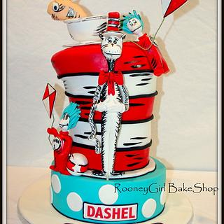 Cat in the Hat & Friends - Cake by Maria @ RooneyGirl BakeShop
