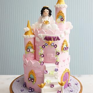 Angel castle birthday cake
