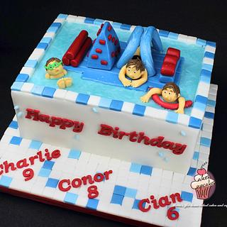 Wobstacle course cake