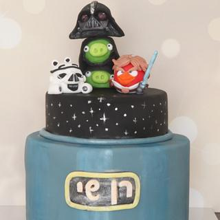 Star wars - angry birds - Cake by Tal Zohar