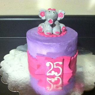 Girly Elephant Fun - Cake by CakeYourself