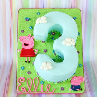 Peppa Pig 3  - Cake by Anchored in Cake