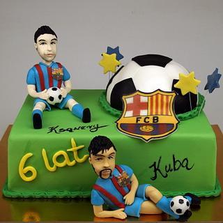 Messi and Neymar Birthday Cake