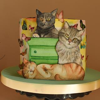 cute katty - Cake by Sayi Congregado