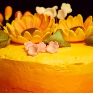 Sunflower ombré cake - Cake by Harjeet kaur