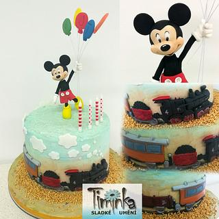 mickey mouse - Cake by Timinka