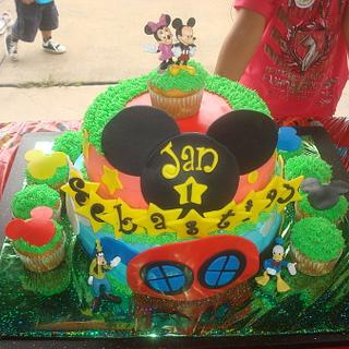 Mickey Mouse Club House Cake