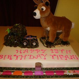Girls Deer Hunting Birthday Cake - Cake by Dana