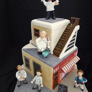 A slice of TLC'S CAKE BOSS - Cake by Julie Anne White