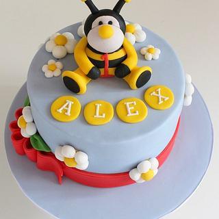 Bumble Bee 1st Birthday Cake