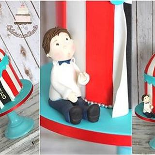 Circus tent themed cake