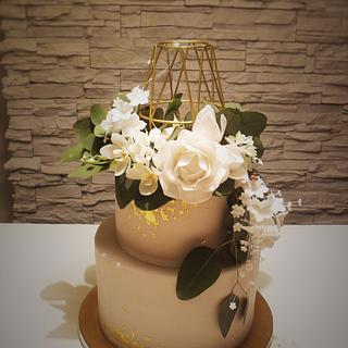 untraditional wedding cake