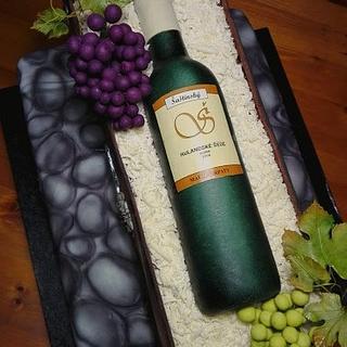 Wine bottle cake - Cake by babkaKatka