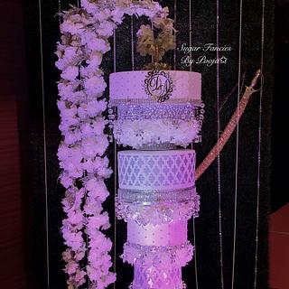 Chandelier Cake/ Hanging Cake - Cake by SugarfanciesbyPooja
