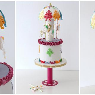 """Unicorn Rainbow Carousel"" - Cake by Betty's Bakery (molecular sensations)"
