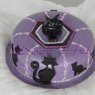 Black cat - Cake by Magda Martins - Doce Art