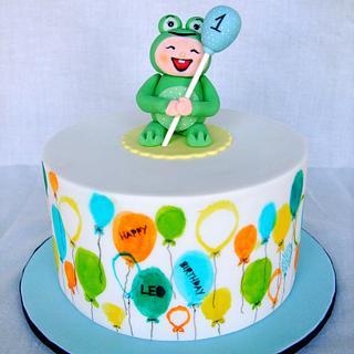 Balloons for Leo - Cake by Rebecca Jane Sugar Art
