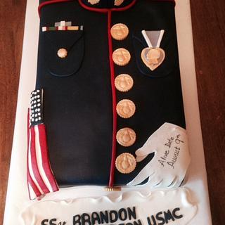 USMC Cake - Cake by Kathryn