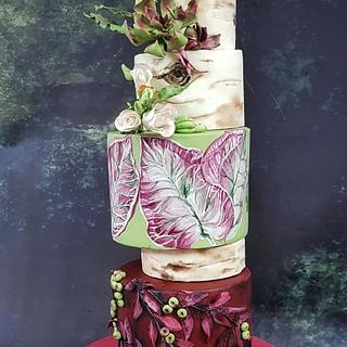 Rustic Garden  - Cake by divya saraf
