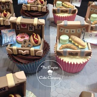 Suitcase Cupcakes - Cake International entry