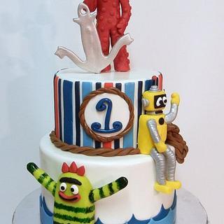 Nautical Theme Yo Gabba Gabba Cake