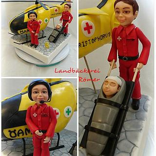 Rescue Team Helicopter Pilots Paramedic