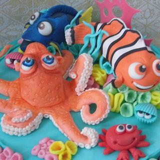 Nemo cake. - Cake by Karen's Cakes And Bakes.