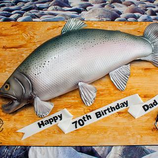 "25"" Rainbow Trout Cake"