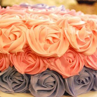 OMBRE ROSETTE CAKE!
