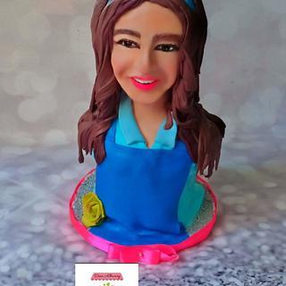 Ghada al tally bust cake